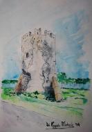 """""""La Torre Angioina - Sec. XIII"""" - 2014 - (Torre chiama """"La Piccola"""", eretta non molto distante dal'altra torre di avvistamento denominata """"La Grande"""") Foce Varano - Fraz. di Ischitella (FG)"""