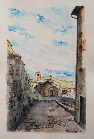 """""""Chiesa di Santa Maria Assunta - Sec. XIV"""" - 2016 - (edificata nel 1302) centro storico - Buriano (GR)"""