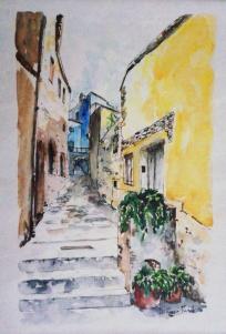 """""""Via O. Fontani 1"""" - 2014 - (Una residenza di passaggio) centro storico - Scarlino (GR) (Collezione Privata - Scarlino)"""
